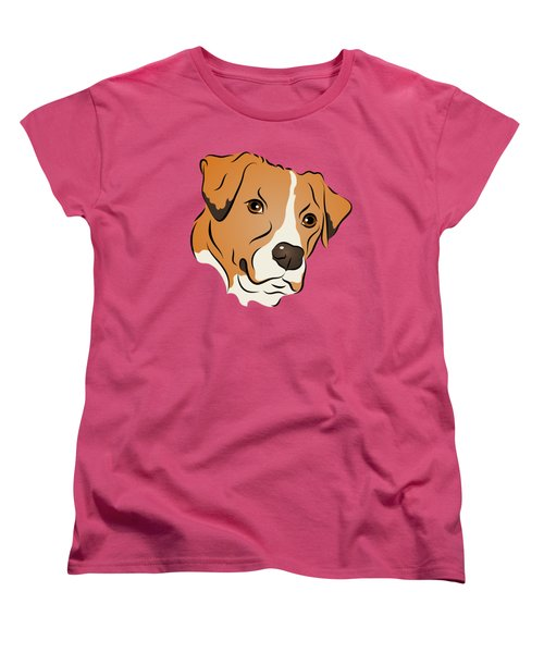 Women's T-Shirt (Standard Cut) featuring the digital art Boxer Mix Dog Graphic Portrait by MM Anderson