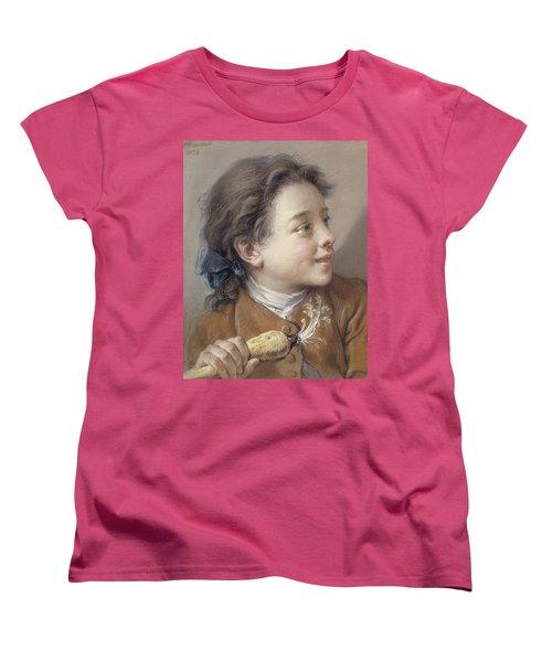 Boy With A Carrot, 1738 Women's T-Shirt (Standard Cut) by Francois Boucher