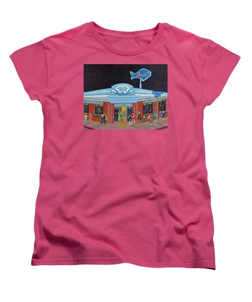 Women's T-Shirt (Standard Cut) featuring the painting Brad's Pismo Beach California by Katherine Young-Beck