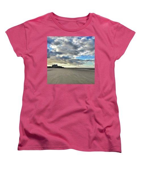 Brancaster Beach This Afternoon 9 Feb Women's T-Shirt (Standard Cut) by John Edwards