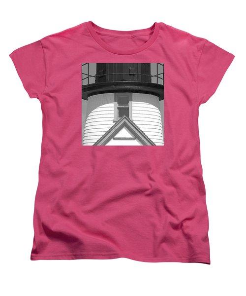 Brant Point Lighthouse Nantucket Women's T-Shirt (Standard Cut) by Charles Harden