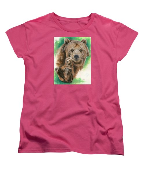 Women's T-Shirt (Standard Cut) featuring the painting Brawny by Barbara Keith