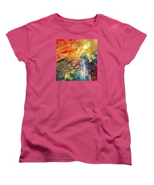 Women's T-Shirt (Standard Cut) featuring the painting Breakfast In Vegas by Tatiana Iliina