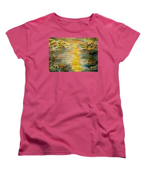 Women's T-Shirt (Standard Cut) featuring the painting New Horizons by Alfred Motzer