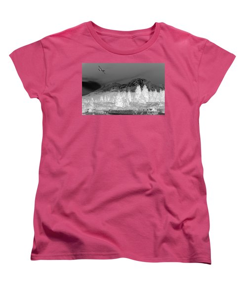 Women's T-Shirt (Standard Cut) featuring the photograph Breathtaking In Black And White by Joyce Dickens