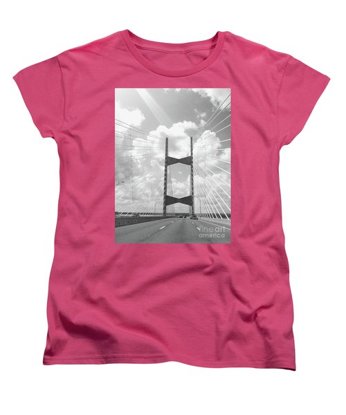 Bridge Clouds Women's T-Shirt (Standard Cut) by WaLdEmAr BoRrErO