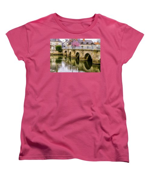 Bridge In The Loir Valley, France Women's T-Shirt (Standard Cut) by Menachem Ganon