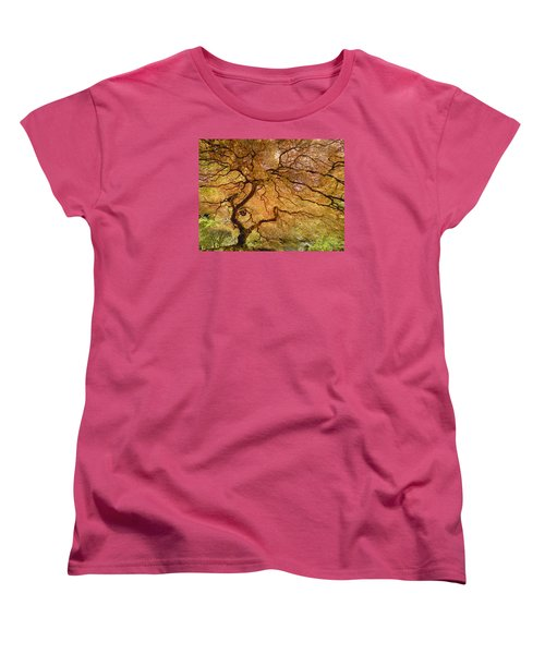 Brilliant Japanese Maple Women's T-Shirt (Standard Cut) by Wanda Krack