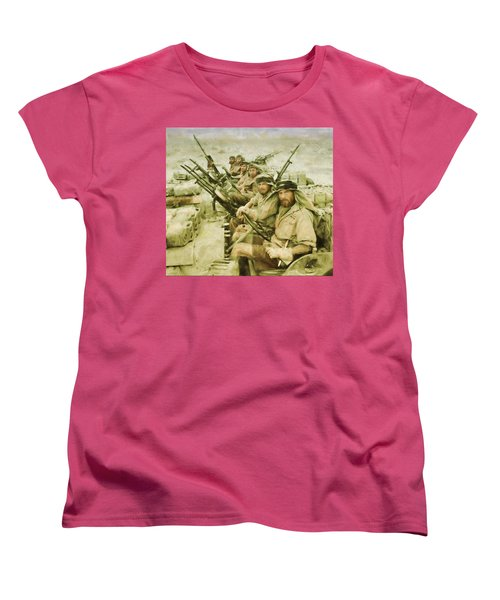 Women's T-Shirt (Standard Cut) featuring the painting British Sas by Michael Cleere