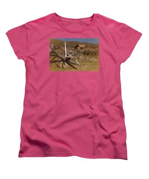 Broken Spokes Women's T-Shirt (Standard Cut) by Lana Trussell