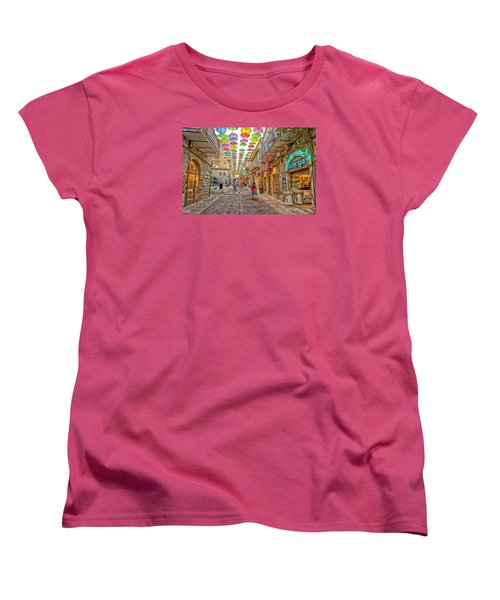 Brollies Over Jerusalem Women's T-Shirt (Standard Cut) by Uri Baruch