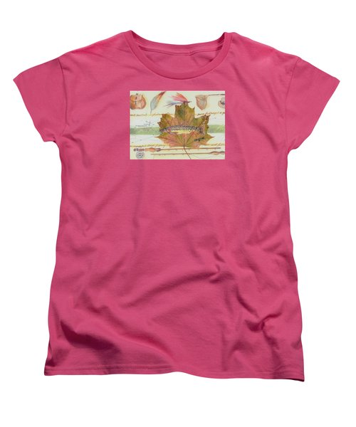 Brook Trout On Fly #2 Women's T-Shirt (Standard Cut) by Ralph Root