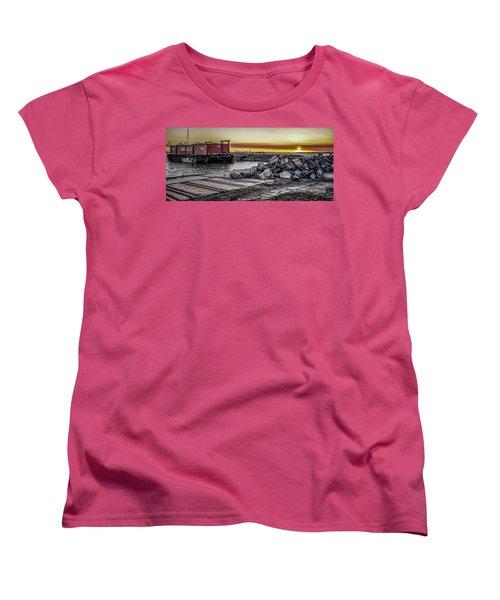 Brooklyn Waterfront Sunset Women's T-Shirt (Standard Cut) by Jeffrey Friedkin