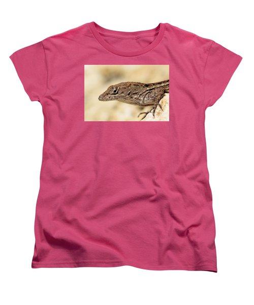 Women's T-Shirt (Standard Cut) featuring the photograph Brown Anole by Doris Potter