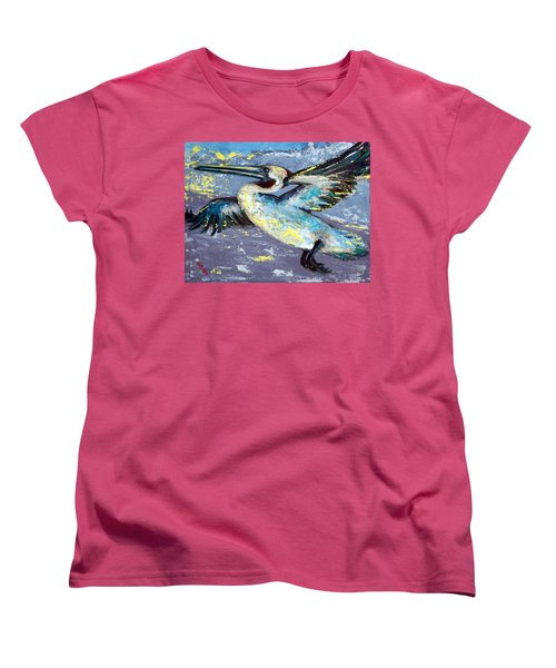 Women's T-Shirt (Standard Cut) featuring the painting Brownie Into The Sunset by Suzanne McKee