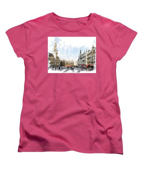 Brussels Grote Markt  Women's T-Shirt (Standard Cut) by Tom Cameron