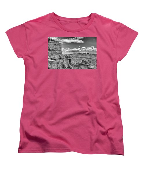 Bryce Canyon In Black And White Women's T-Shirt (Standard Cut) by Nancy Landry