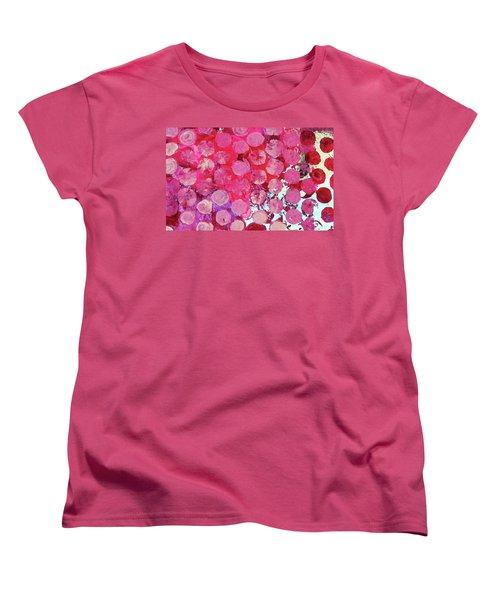 Women's T-Shirt (Standard Cut) featuring the mixed media Bubbles by Mary Ellen Frazee