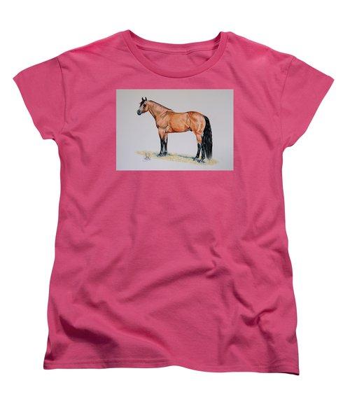 Buckskin Beauty Women's T-Shirt (Standard Cut) by Cheryl Poland