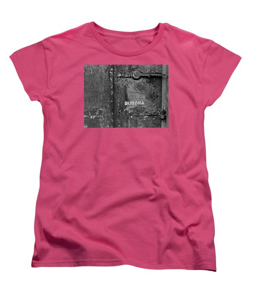 Buddha Women's T-Shirt (Standard Cut) by Laurie Stewart