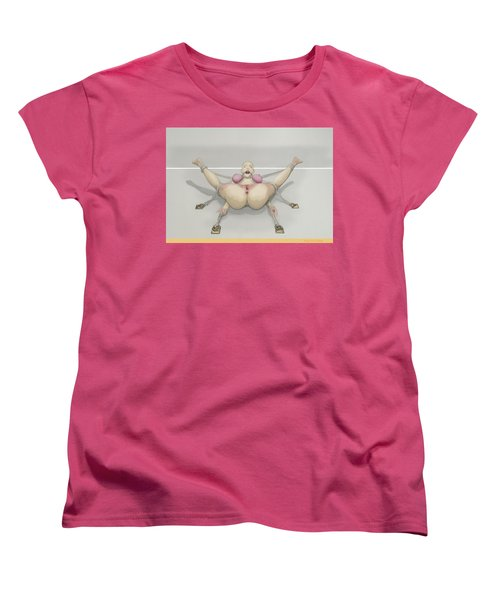 Women's T-Shirt (Standard Cut) featuring the mixed media Bug On Its Back by TortureLord Art