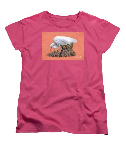 Building A Nest Women's T-Shirt (Standard Cut) by Marion Johnson