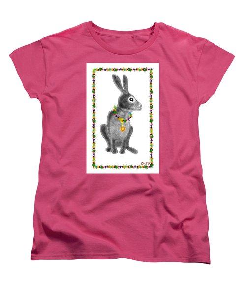 Bunny Post Card Women's T-Shirt (Standard Cut)