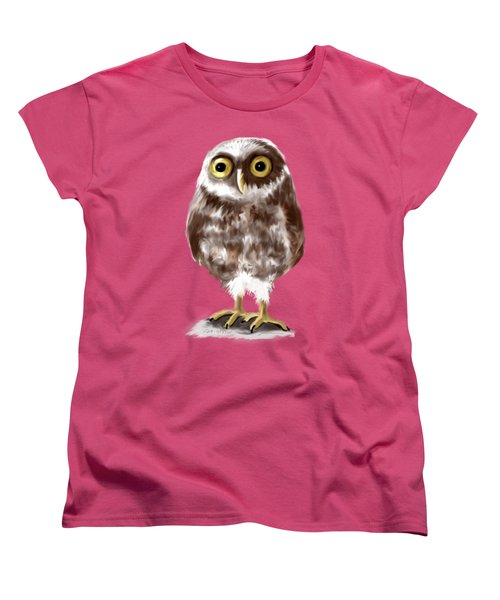 Burrowing Owl Women's T-Shirt (Standard Cut) by Jean Pacheco Ravinski