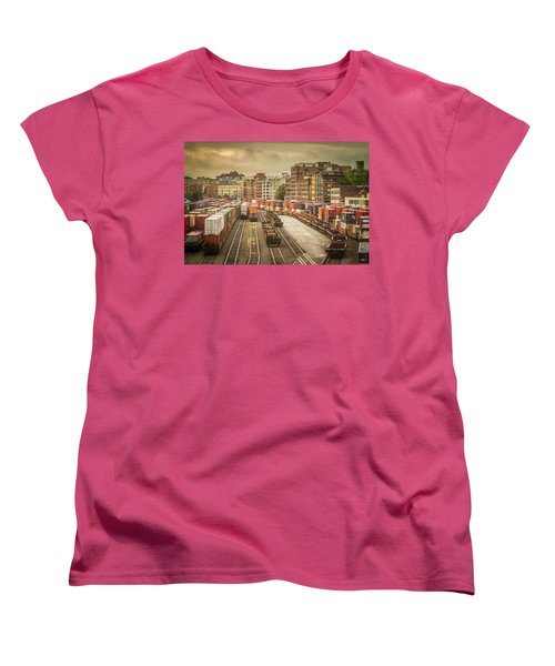 Women's T-Shirt (Standard Cut) featuring the photograph Busines End Of The City... by Russell Styles