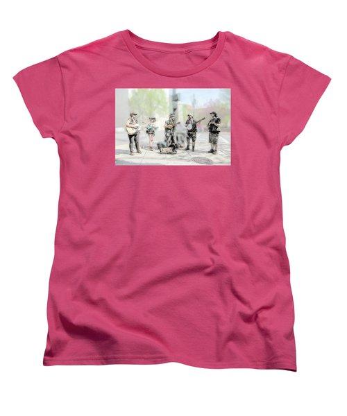Busker Quintet Women's T-Shirt (Standard Cut) by John Haldane