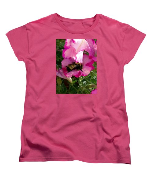 Women's T-Shirt (Standard Cut) featuring the photograph Busy Bumble Bee by Sharon Duguay