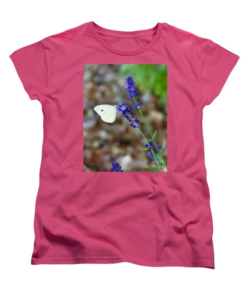 Butterfly And Lavender Women's T-Shirt (Standard Fit)