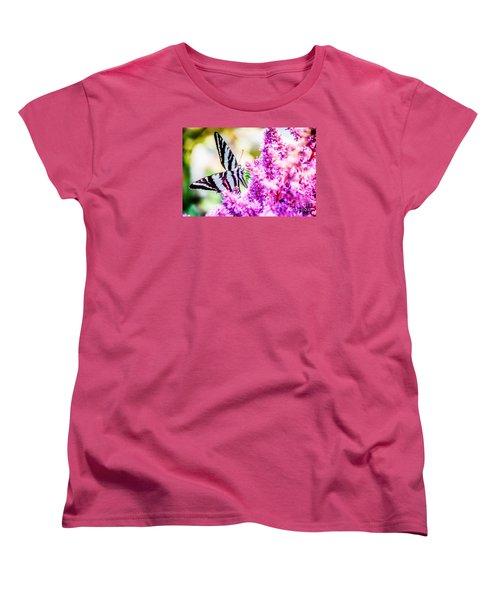 Butterfly Beautiful  Women's T-Shirt (Standard Cut) by Peggy Franz