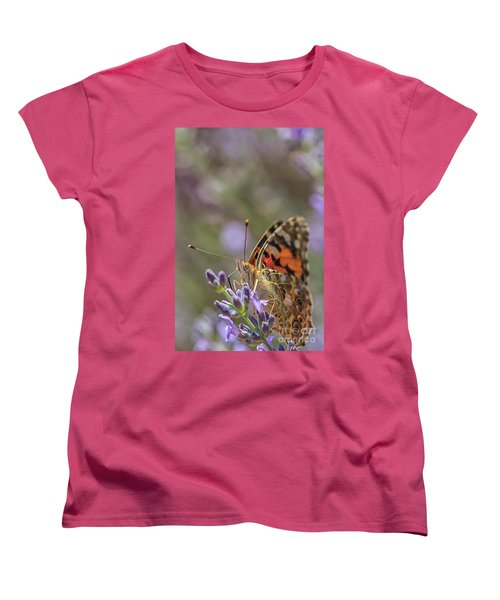 Women's T-Shirt (Standard Cut) featuring the photograph Butterfly In Close Up by Patricia Hofmeester