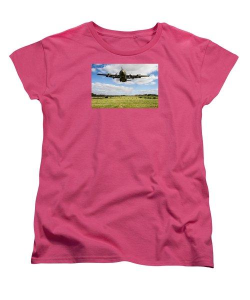 C130 Hercules Landing Women's T-Shirt (Standard Cut) by Ken Brannen