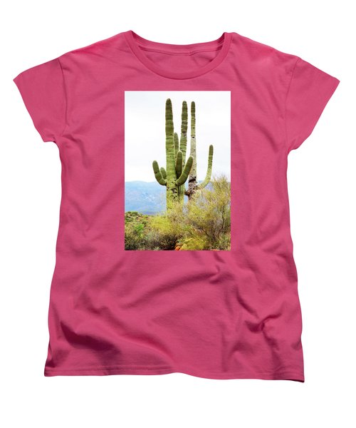 Cactus Women's T-Shirt (Standard Cut) by Angi Parks