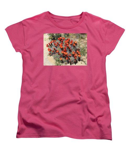 Women's T-Shirt (Standard Cut) featuring the photograph Cactus Bloom In Jtnp by Viktor Savchenko