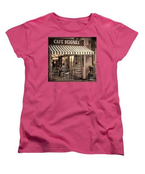 Cafe Beignet 2 Women's T-Shirt (Standard Cut) by Jerry Fornarotto