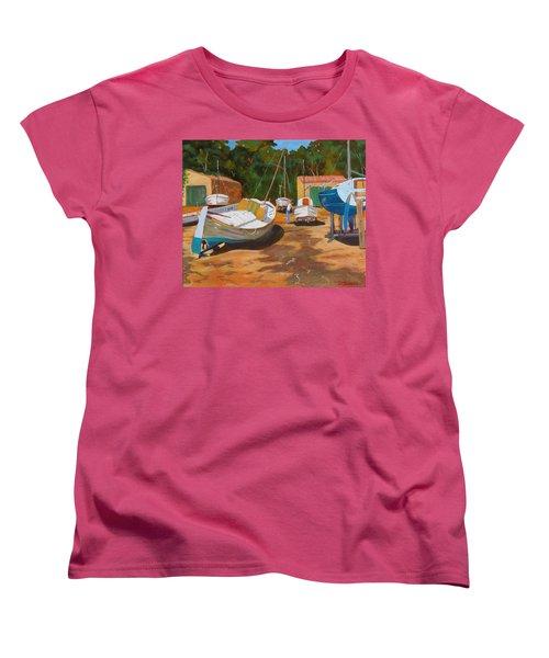 Cala Figuera Boatyard - I Women's T-Shirt (Standard Cut)