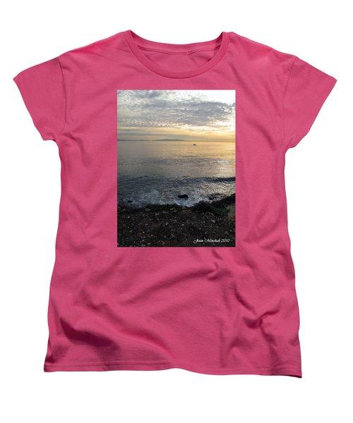 Women's T-Shirt (Standard Cut) featuring the photograph California Sunset by Joan  Minchak