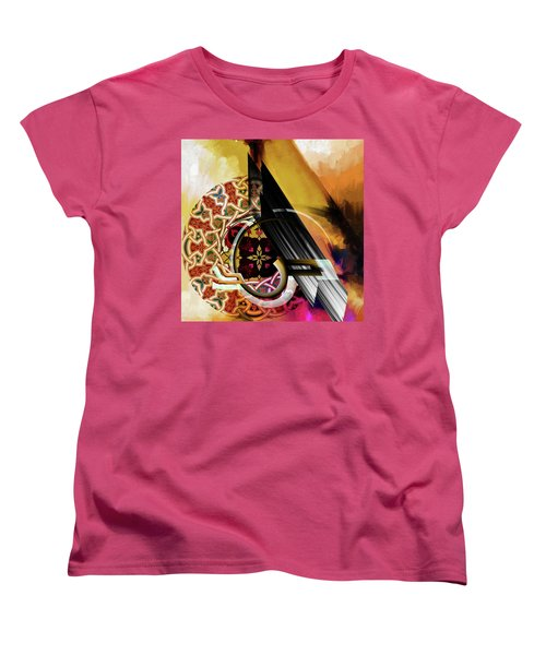 Women's T-Shirt (Standard Cut) featuring the painting Calligraphy 103 1 1 by Mawra Tahreem