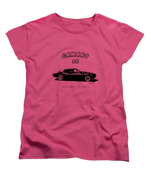 Camaro Ss Women's T-Shirt (Standard Cut) by Kim Gauge