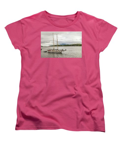 Canadian Sailing Schooner Women's T-Shirt (Standard Cut) by Timothy Latta