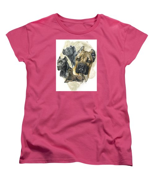 Cane Corso W/ghost Women's T-Shirt (Standard Cut) by Barbara Keith