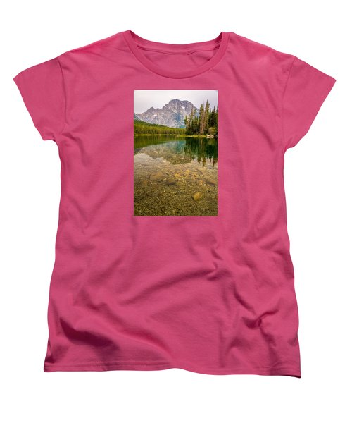 Canoe Camping In The Teton Range Women's T-Shirt (Standard Cut) by Serge Skiba
