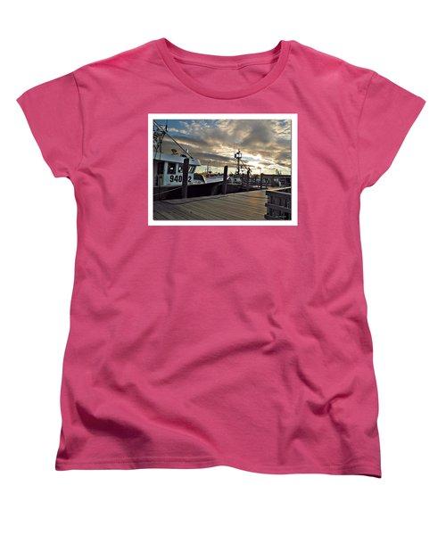 Women's T-Shirt (Standard Cut) featuring the photograph Cape Cod Harbor by Joan  Minchak