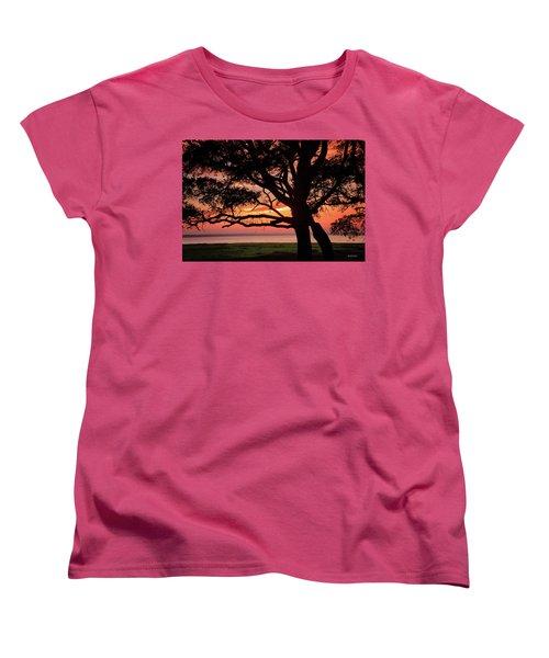 Cape Fear Sunset Overlook Women's T-Shirt (Standard Cut) by Phil Mancuso