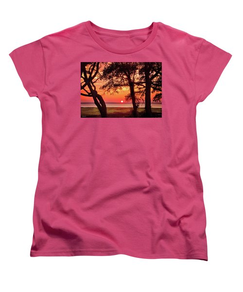 Women's T-Shirt (Standard Cut) featuring the photograph Cape Fear Tranquility by Phil Mancuso