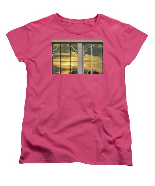 Cape May Abstract Sunset Reflection Women's T-Shirt (Standard Cut) by Gary Slawsky