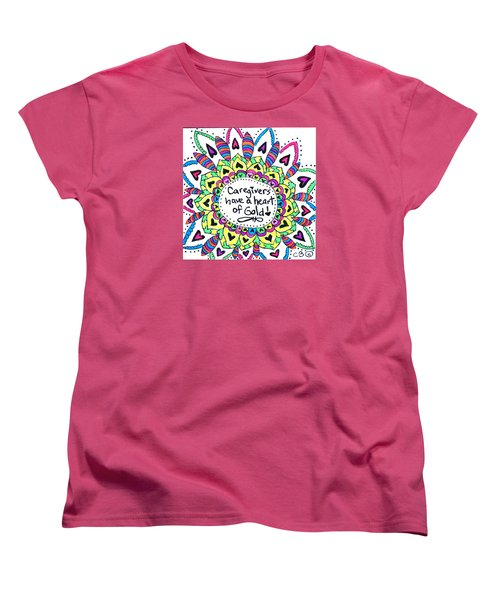 Caregiver Flower Women's T-Shirt (Standard Cut) by Carole Brecht